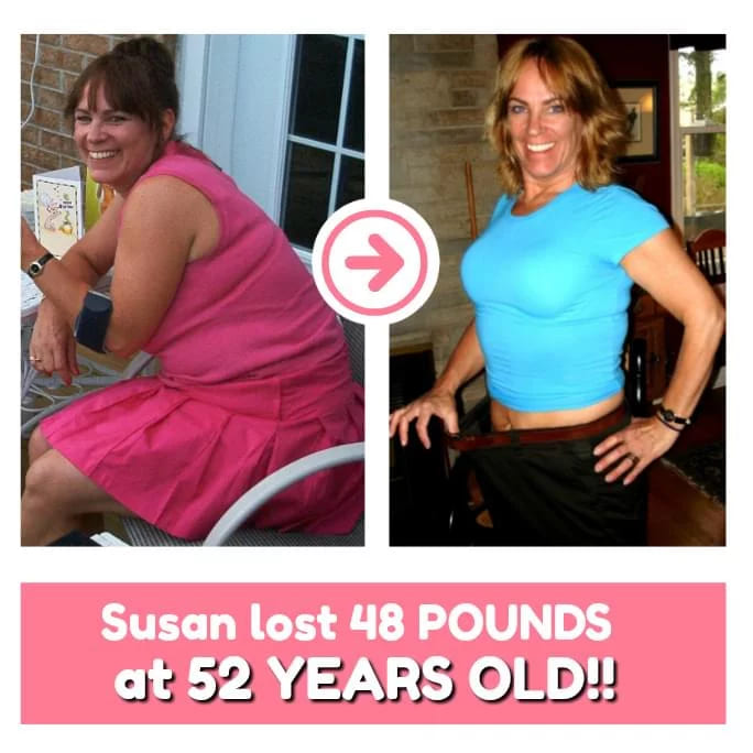 Susan Lost 48 Pounds at 52 Years Young